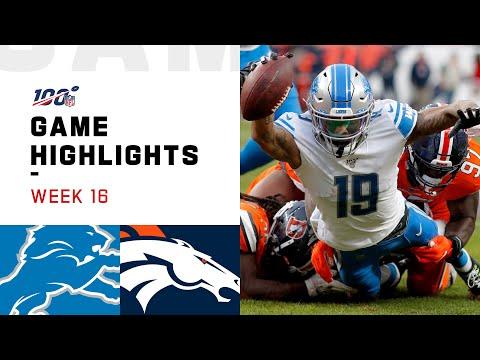 Lions Vs. Broncos Week 16 Highlights   NFL 2019