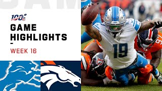 Lions vs. Broncos Week 16 Highlights | NFL 2019
