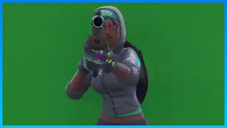 Fortnite Greenscreen effects - Dances - Holding a gun and more(teknique skin Fortnite)