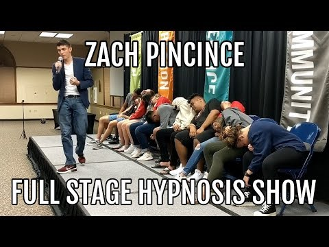 Hypnotist Zach Pincince FULL Stage Hypnosis Show | Entire UNCUT College Hypnosis Performance
