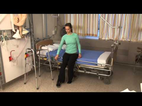 How to get into bed after hip replacement surgery