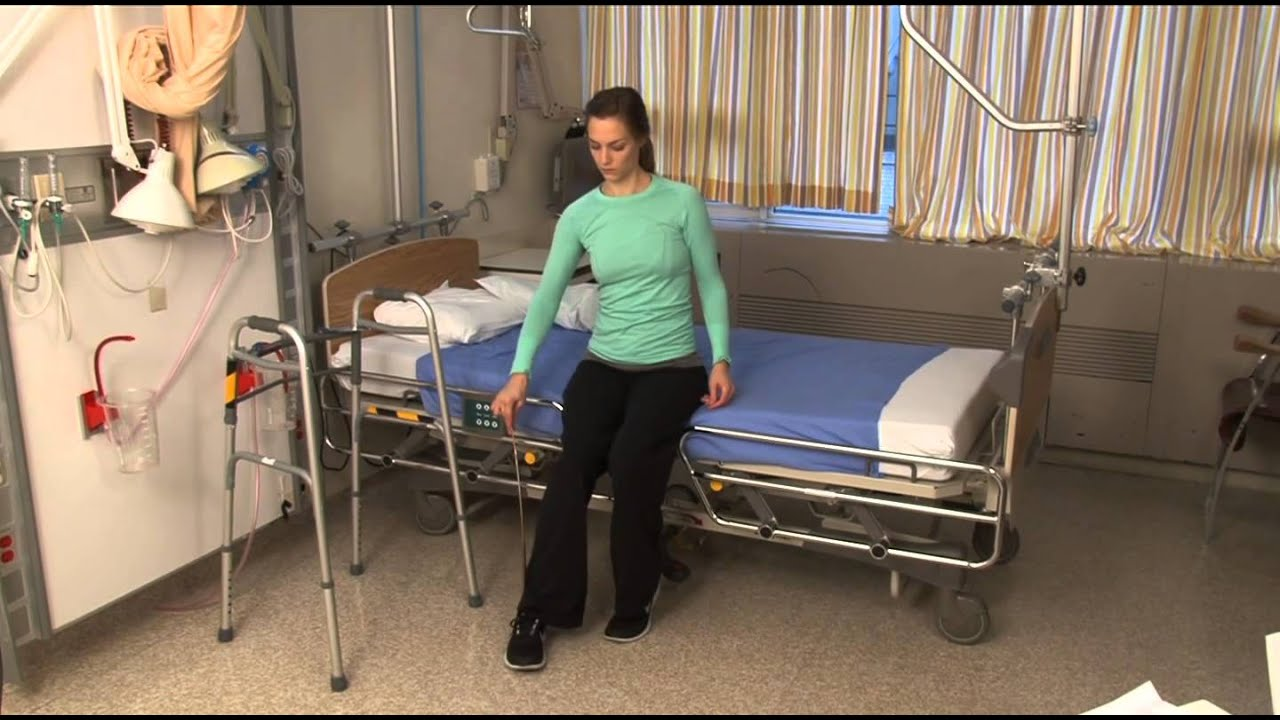 How To Get Into Bed After Hip Replacement Surgery Youtube