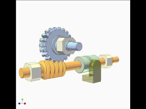 Worm Drive 5a: Rotating and translating worm - YouTube
