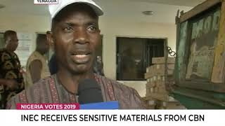 INEC receives sensitive materials from CBN in Bayelsa