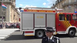 Festa Nacional do Luxembourg, Proteção Civil e Bombeiros. Parte 8/13.2012. HD