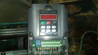 Подключение, настройка и запуск преобразователя частоты HY01D523B.