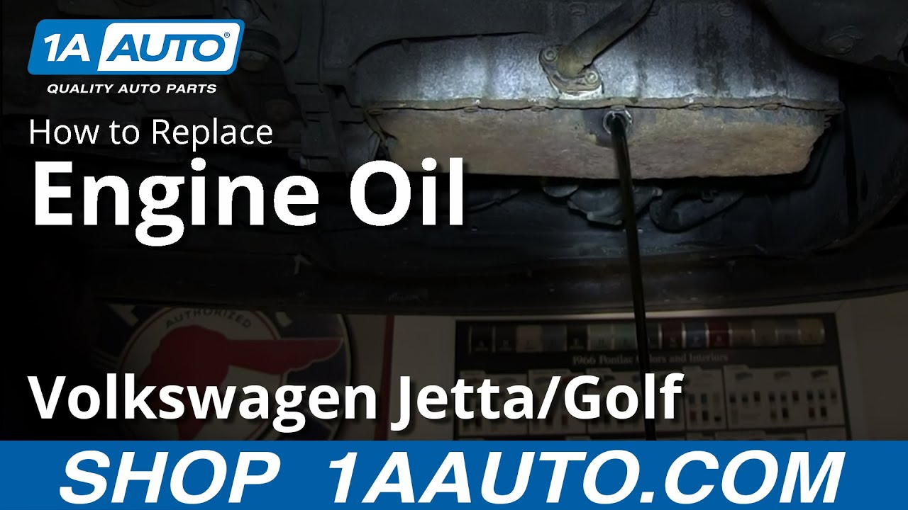 How to Change Oil and Filter 1.8T 04 Volkswagen Jetta and ...