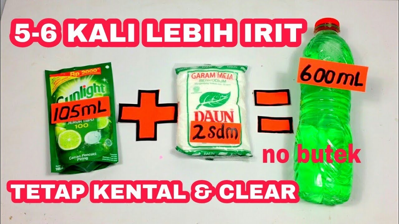 Tips Sunlight Oplosan Hasil 5 X Lipat Kental Dan Bening Youtube