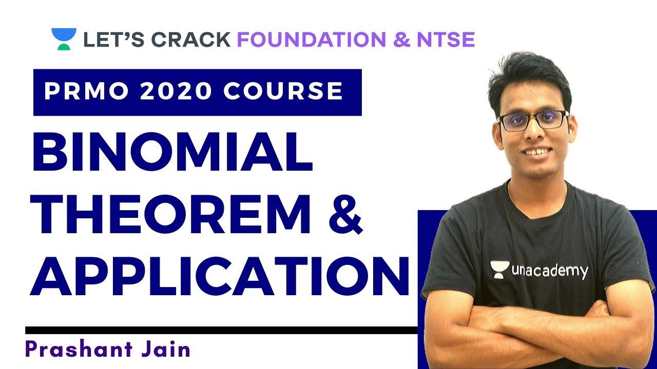 Binomial Theorem and its Application | PRMO 2020 Course | Prashant Jain