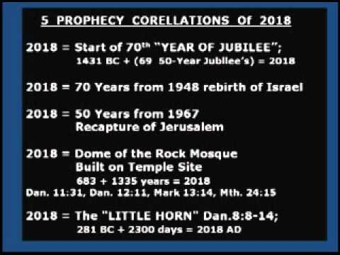 2018 End Times BIBLICAL PROPHECY