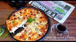 How To Make a Pizza  Super Crispy Thin Crust Pizza  DIY薄脆披薩 - JosephineRecipes.co.uk