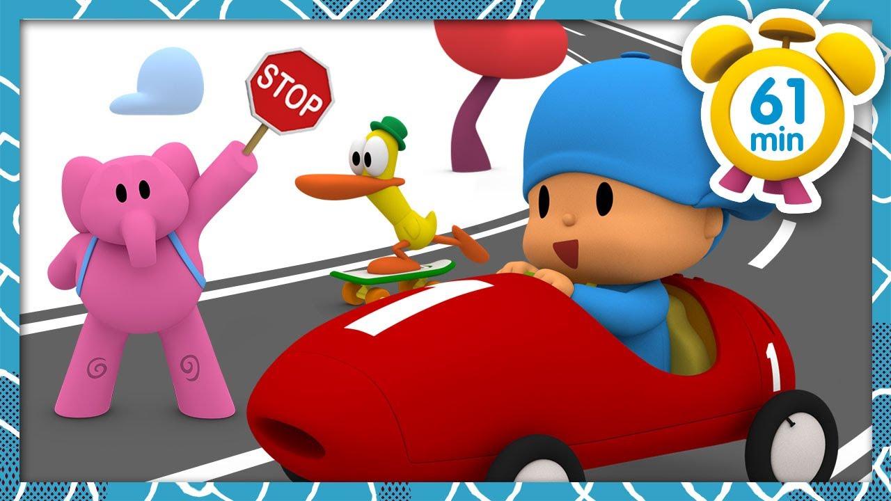 🚸 POCOYO TÜRK - Yol Güvenliği [ 61 dakika ] Çocuklar için ÇIZGI FILMLER