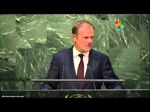 UN Speeches: Donald Tusk, President of the European Union