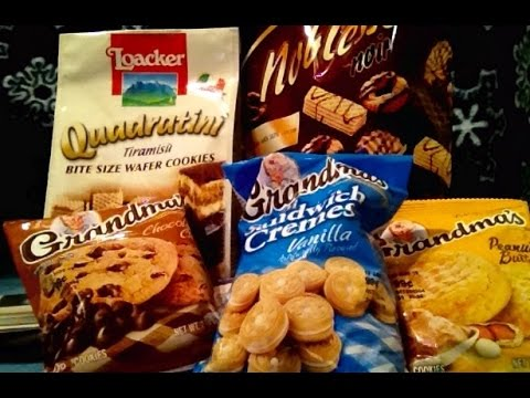 ASMR Cookies, Chocolate, Vanilla, America, Austria, Germany,Test, Crinkling, Newspaper, Whispering,