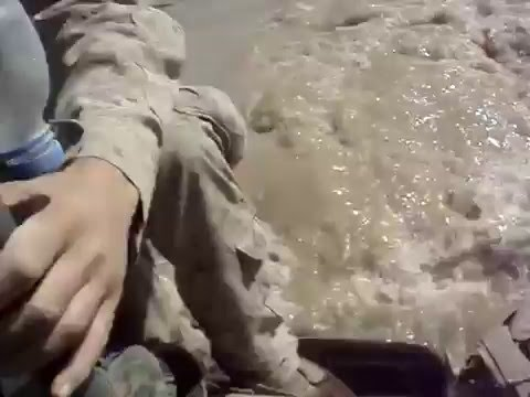 River crossing with a LAV