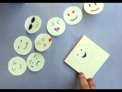 DIY Easy Emoji craft | Paper cutting art