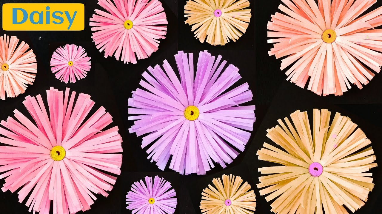 How to make a daisy flower paper crafts youtube izmirmasajfo Gallery