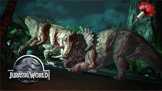 Rexy vs Triceratops Tranquilizing Sequence | Jurassic World Fallen Kingdom