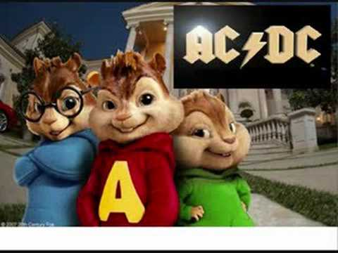 ACDC Thunderstruck Chipmunks Version