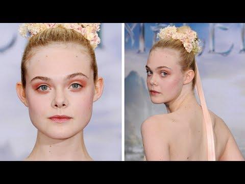 Elle Fanning Maleficent Red Carpet Makeup Tutorial
