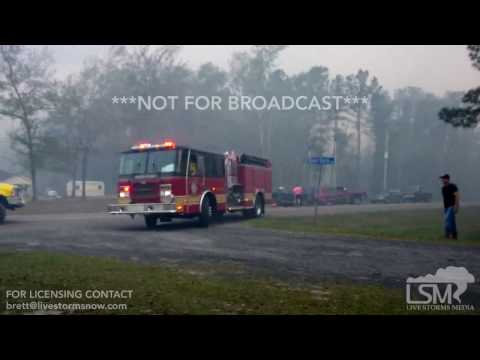 22-03-2017 Bryceville, FL - Destructive Forest Fire and Urgent Evacuations