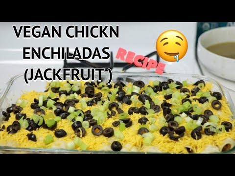 VEGAN CHICKN ENCHILADAS RECIPE