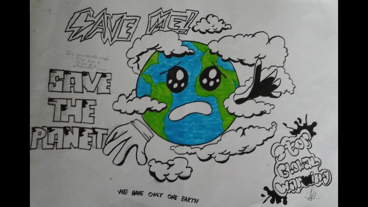 Membuat Poster Pemanasan Global Global Warming Youtube