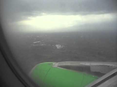 Снижение в небе Армении перед посадкой.