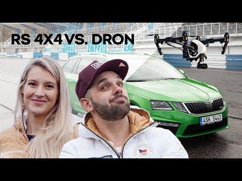 ŠKODA EXPERIMENT: Závod OCTAVIA COMBI RS 4x4 proti dronu