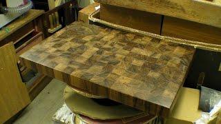 End Grain Chopping / Cutting Board - Teak Hardwood