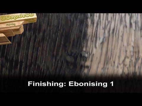 Ebonising Wood with steel wool and vinegar