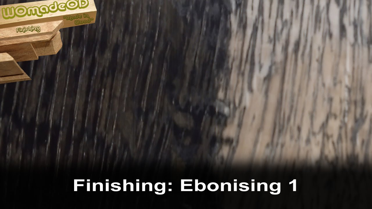 Ebonising Wood With Steel Wool And Vinegar Youtube