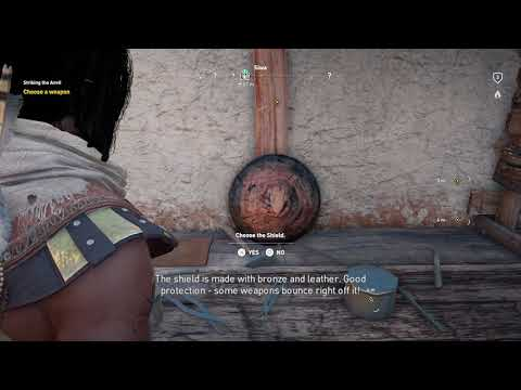 "Assassin's Creed: Origins - Striking The Anvil: Return To Benipe ""Reopen Shop"" Choose Phalanx Shield"
