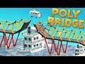 Boats, Cars, And Bridges! - Poly Bridge Gameplay