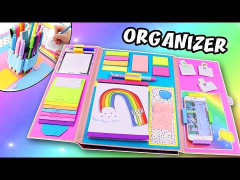 DIY FOLDER ORGANIZER - BACK TO SCHOOL | aPasos Crafts DIY
