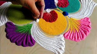 Innovative & attractive rangoli for Christmas & new year