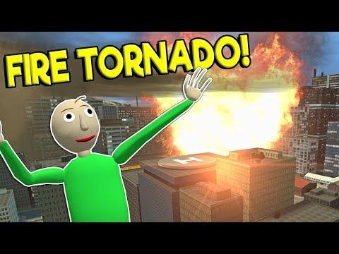 FIRE TORNADO DEVASTATES CITY! - Garry's Mod Sandbox Gameplay - Gmod Natural Disaster Roleplay