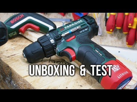 LIDL PARKSIDE Akku Bohrschrauber PABS 12 B3 Unboxing & Test