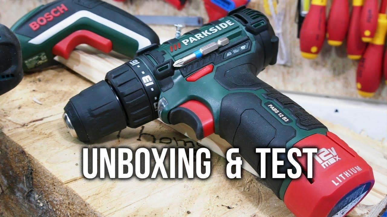 lidl parkside akku bohrschrauber pabs 12 b3 unboxing test youtube. Black Bedroom Furniture Sets. Home Design Ideas