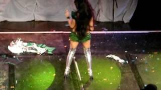 Moana Santana Loses A Pastie At London Burlesque Week, Jetsetters Ball 2010