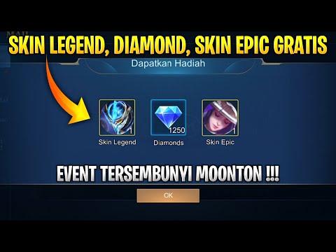 EVENT TERSEMBUNYI GRATIS SKIN LEGEND, DIAMOND, SKIN EPIC DARI MOONTON !!!