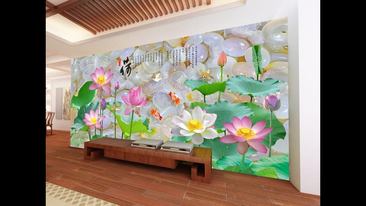 Gạch tranh chim công, gạch 3d ốp tường phòng ngủ tại Đà Nẵng