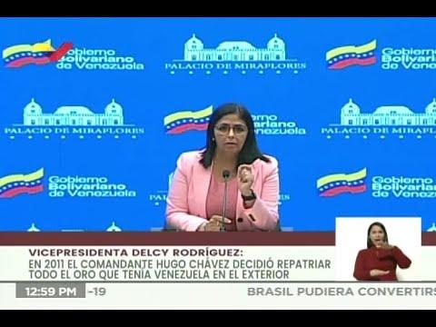 Vicepresidenta de Venezuela sobre 31 toneladas de oro en Banco de Inglaterra: El caso irá a la CPI