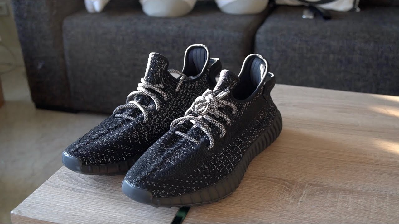 adidas yeezy 350 v2 black reflective YEEZY 350 BOOST V2 STATIC REFLECTIVE BLACK ON-FEET REVIEW