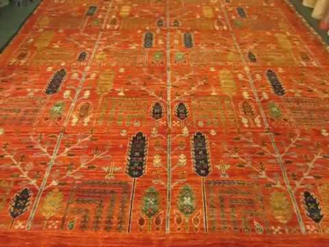 Beautiful 8 x 10 Tree of Life Oriental Rug, woven in Afghanistan!