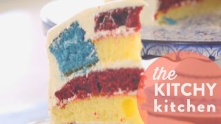 How to Make a Secret Flag Cake // Living Deliciously