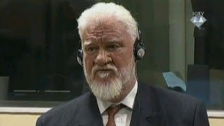 Croatian war criminal Slobodan Praljak dies after taking poison in court - Croatian state TV