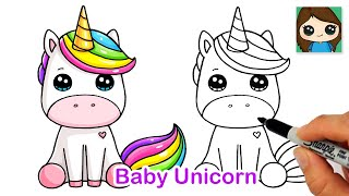 How to Draw a Baby Unicorn Easy