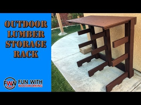 How to build a Lumber Storage Rack