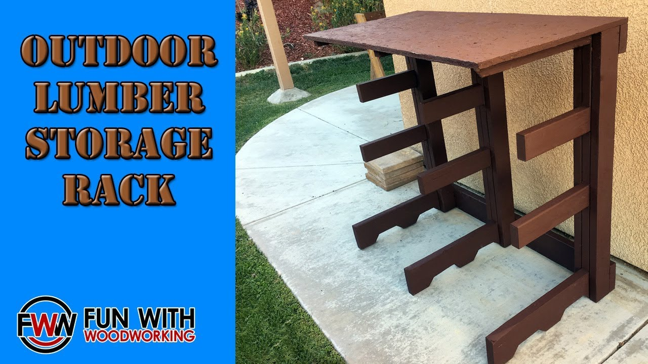 Project build an outdoor lumber storage rack out of for Lumber yard storage racks